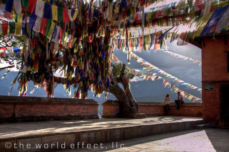 Prayer Flags. Swayambunath. Kathmandu, Nepal