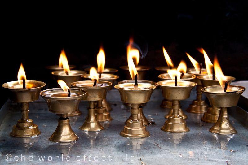 Candles. Kathmandu, Nepal