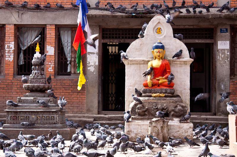 A small temple. Kathmandu, Nepal