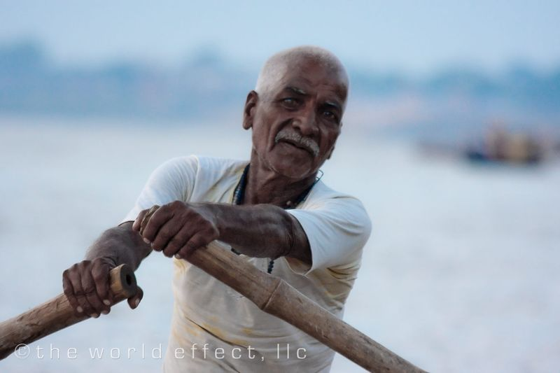 Our oarsman fro the morning. Varanasi, India