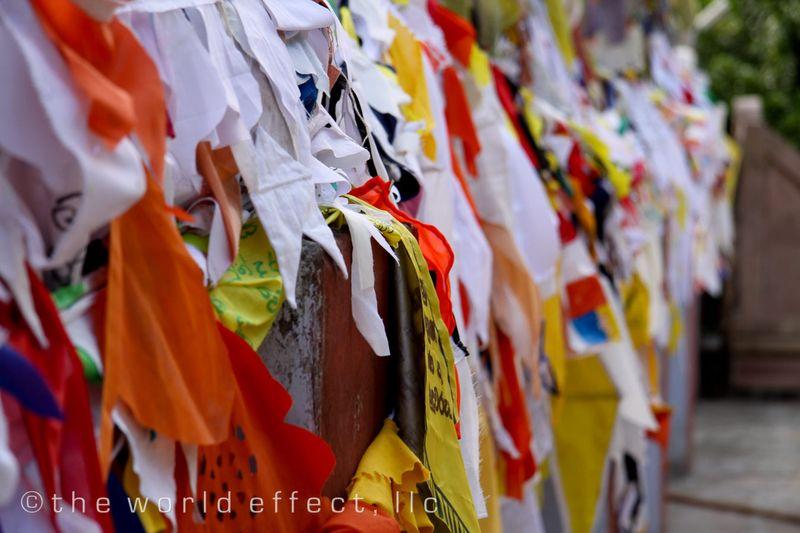 Prayer Flags. Varanasi, India