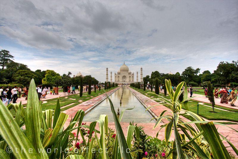 Taj Mahal with Green