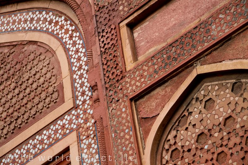 Agra fort stone detail