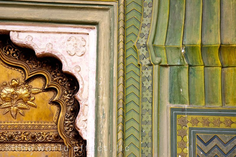 Door way in City Palace. Jaipur, India