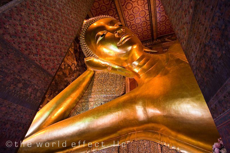 Bangkok, Thailand - Reclining Buddha Head