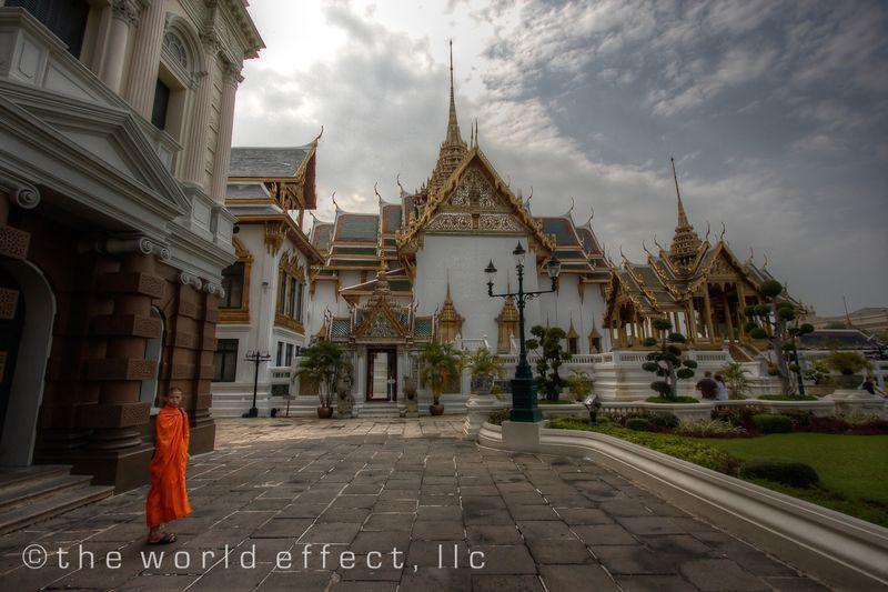 Bangkok, Thailand - Grand Palace and monk