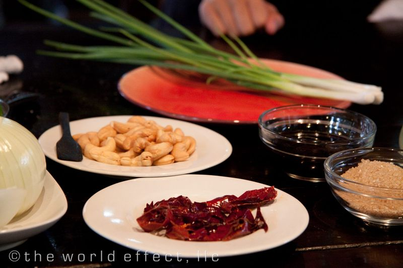Bangkok, Thailand - dried chiles and cashew nuts