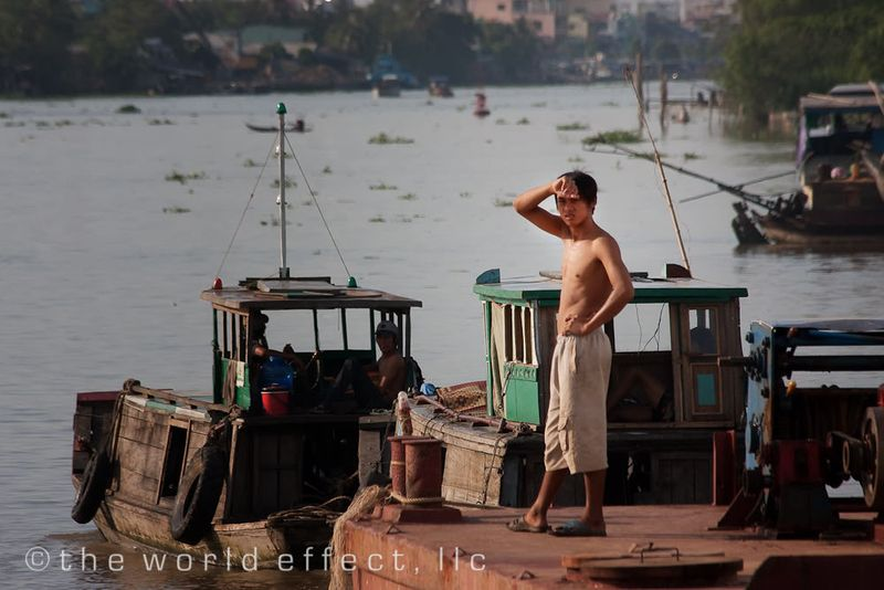 Barge on the Mekong Delta, Vietnam