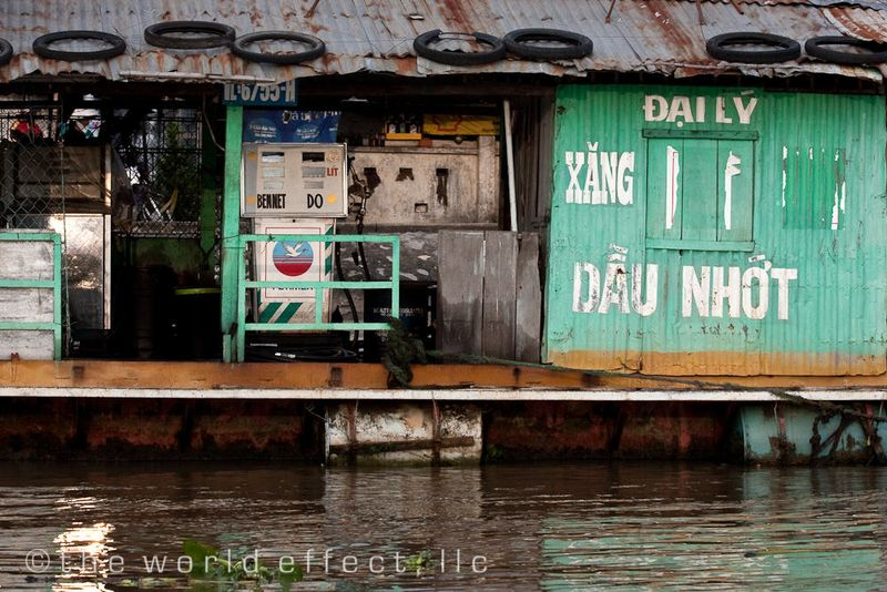 Gas Station on the Mekong Delta, Vietnam