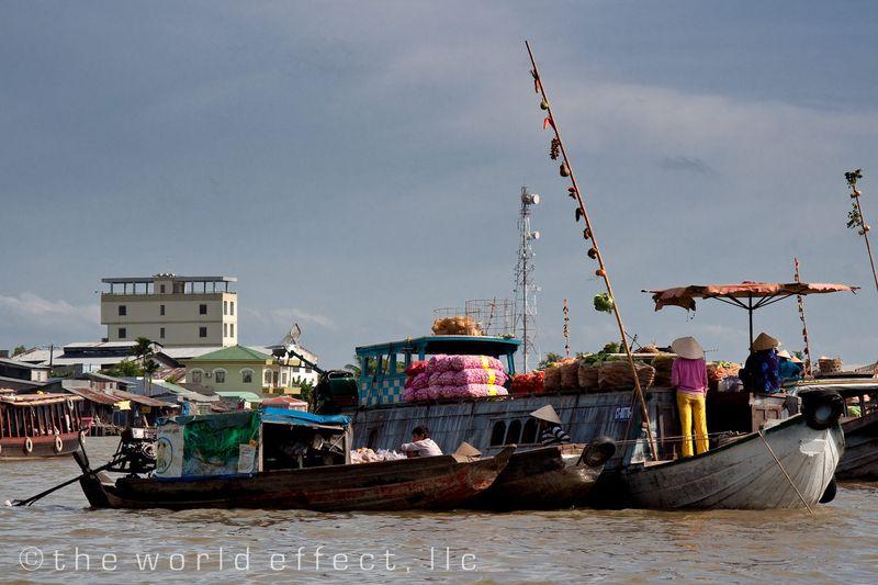 """Menu Stick"" at the market. Mekong Delta, Vietnam"