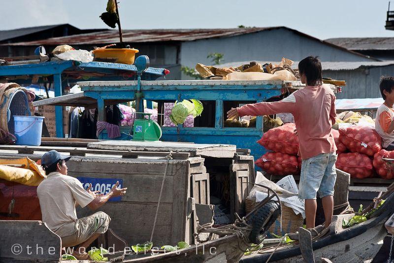 Floating Market. Mekong Delta, VIetnam