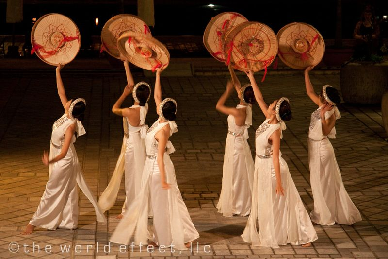 Dance performance at our hotel. Hoi An, Vietnam