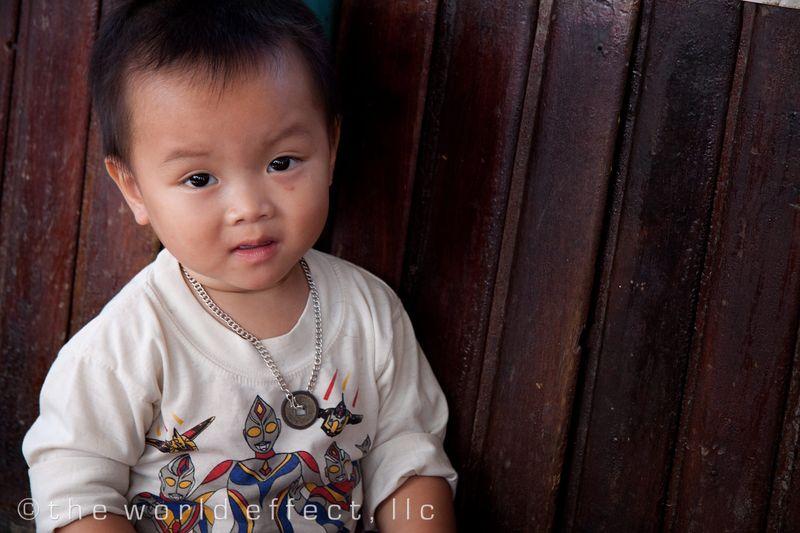 Hue, Vietnam - baby on boat