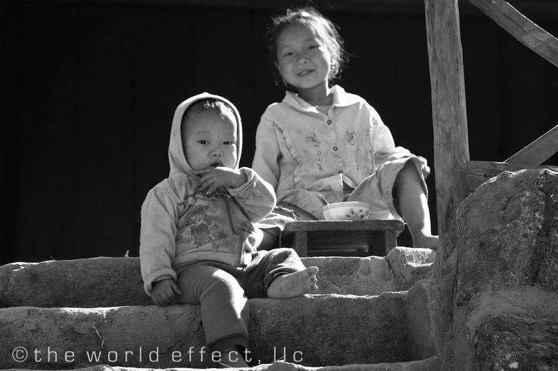 Sapa Vietnam - Village kids enjoying their day
