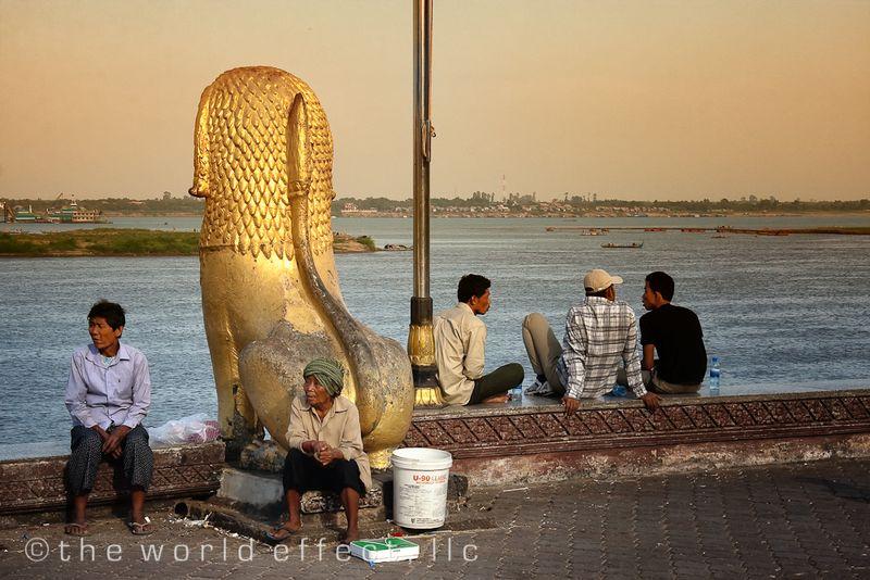 River front. Phnom Penh, Cambodia