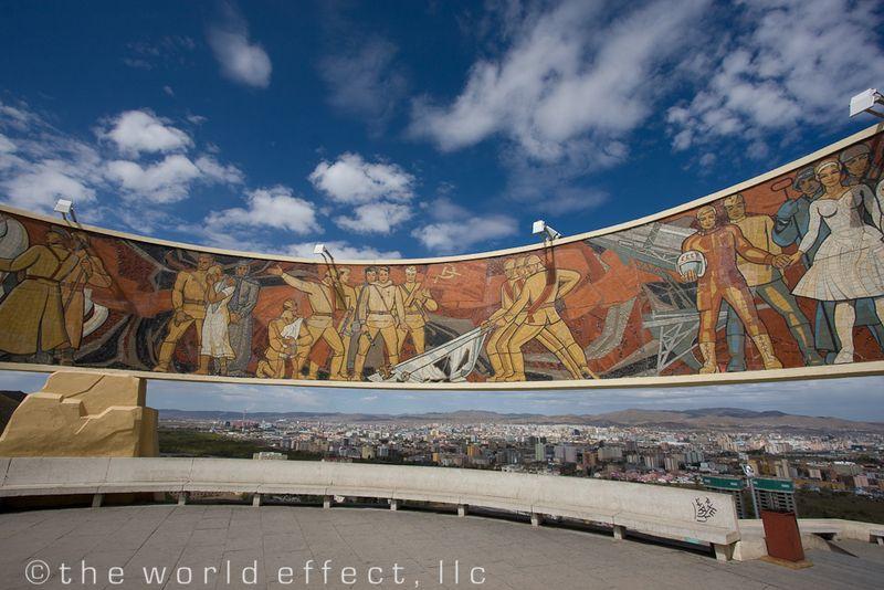 Zaisan Memorial overlooking Ulaanbaatar