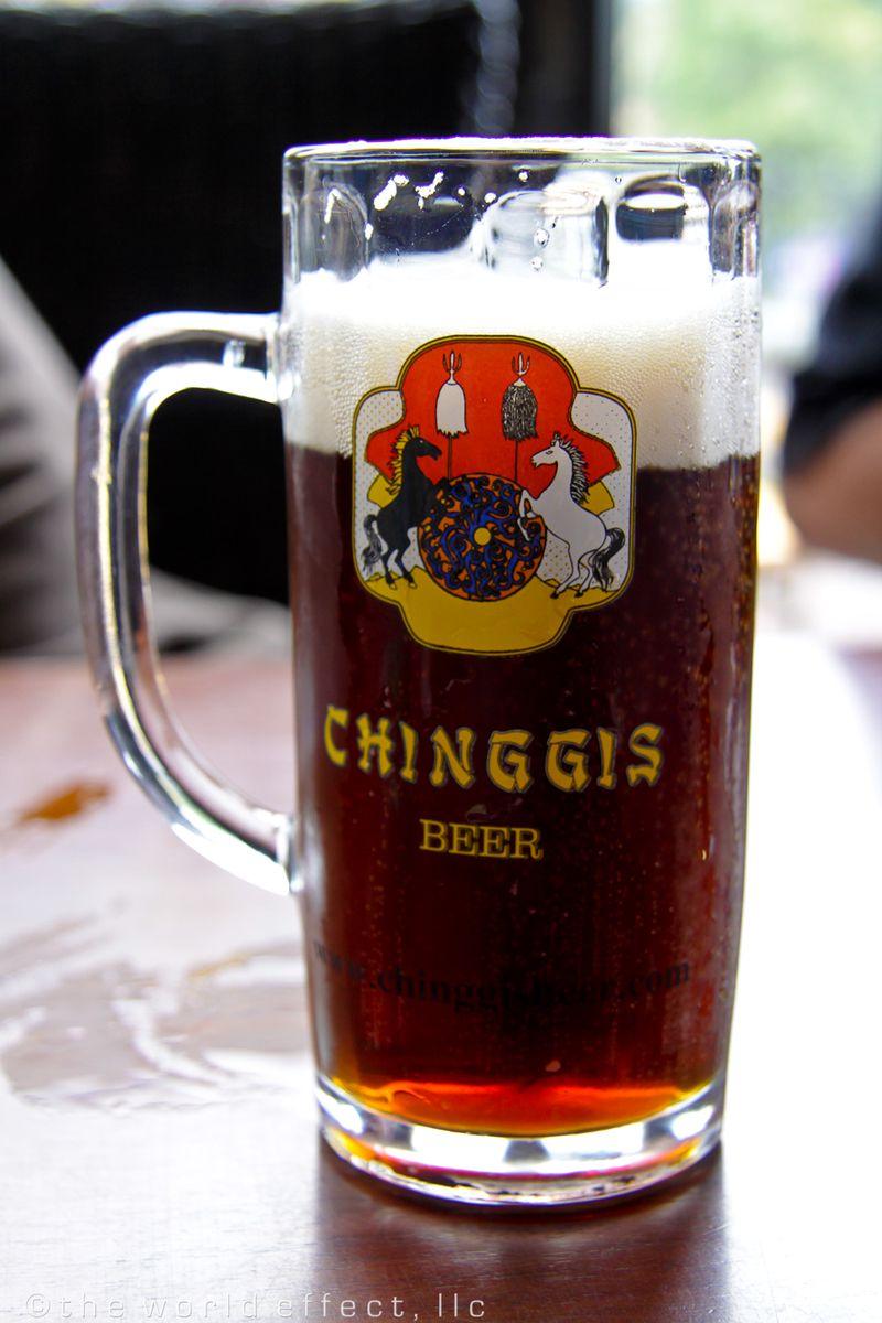 Chinggis Khan Beer. Ulaanbaatar, Mongolia