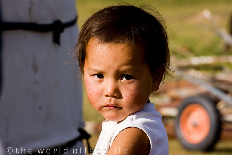 Mongolia, Grandchild at ger