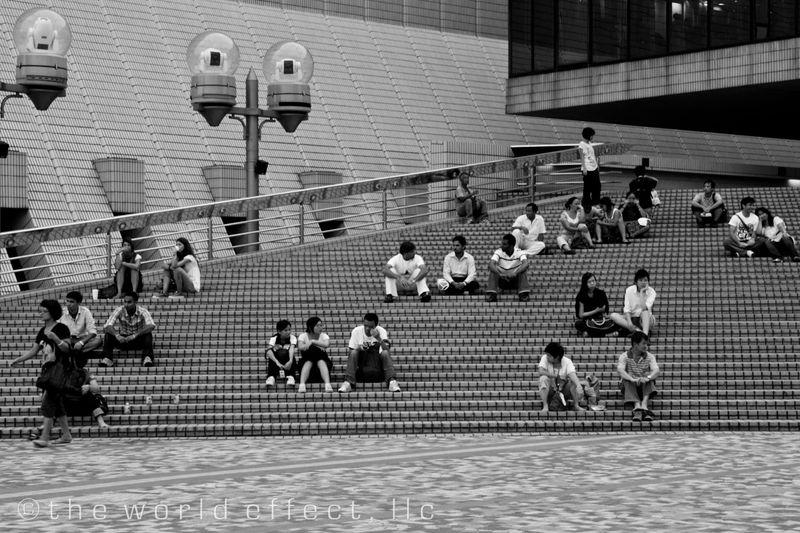 Stairs near the waterfront. Hong Kong
