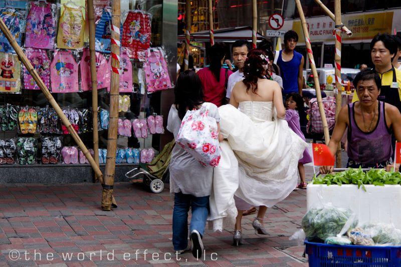 Running Bride. Hong Kong
