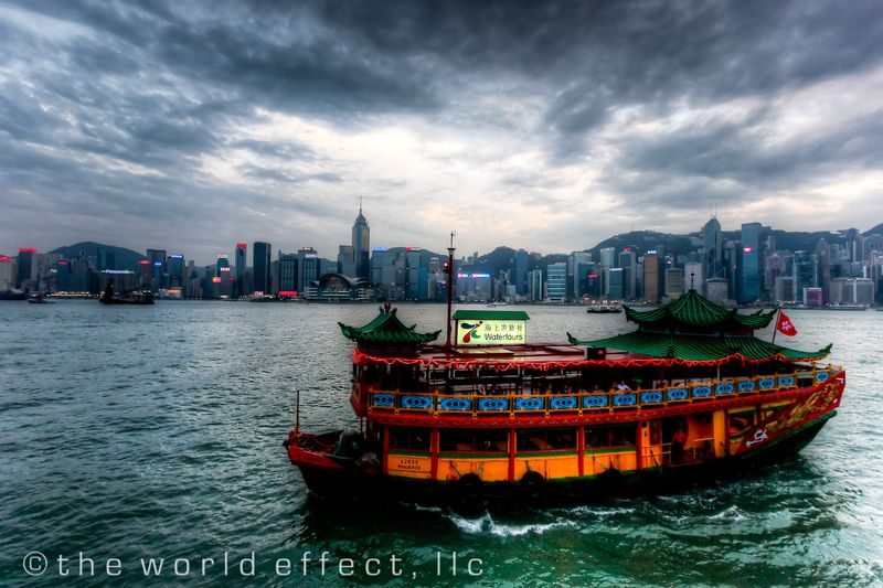 Tour boat. Hong Kong