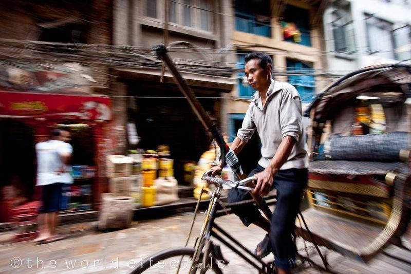 Rickshaw. Kathmandu, Nepal