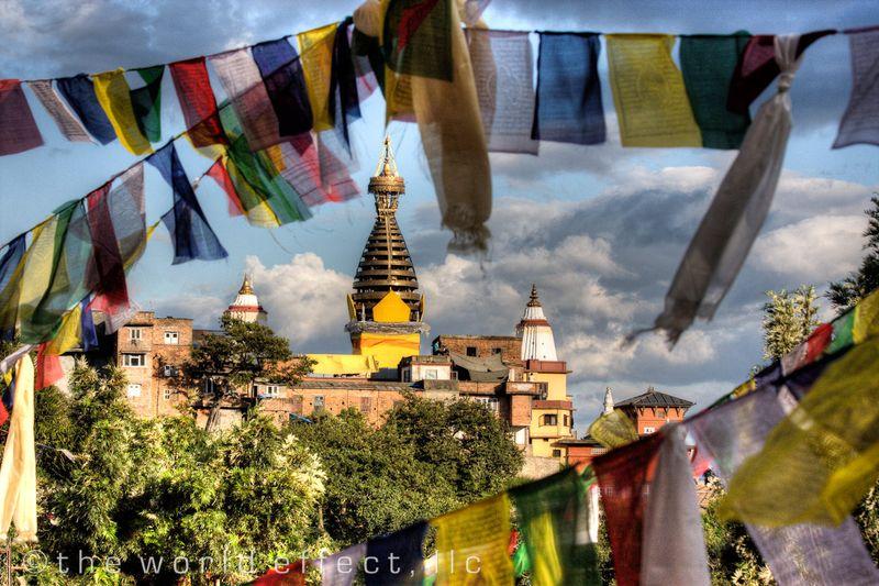 Swayambunath. Kathmandu, Nepal