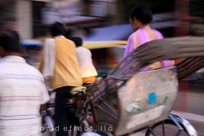 Rickshaw. Varanasi, India