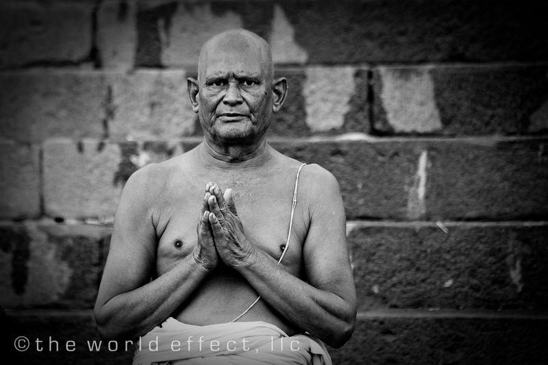 Man Praying. Varanasi, India