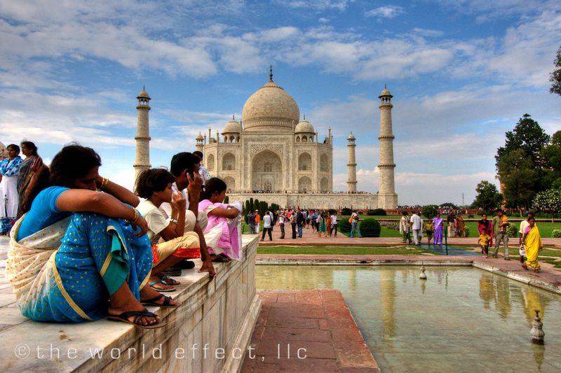 Fountain breat at the Taj