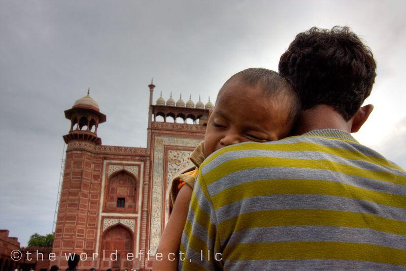 Nap time at the Taj Mahal