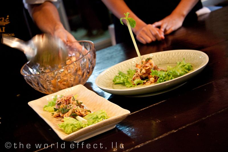 Bangkok, Thailand - Shrimp with lemongrass and herbs
