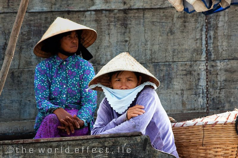 Woman at the floating market. Mekong Delta, VIetnam