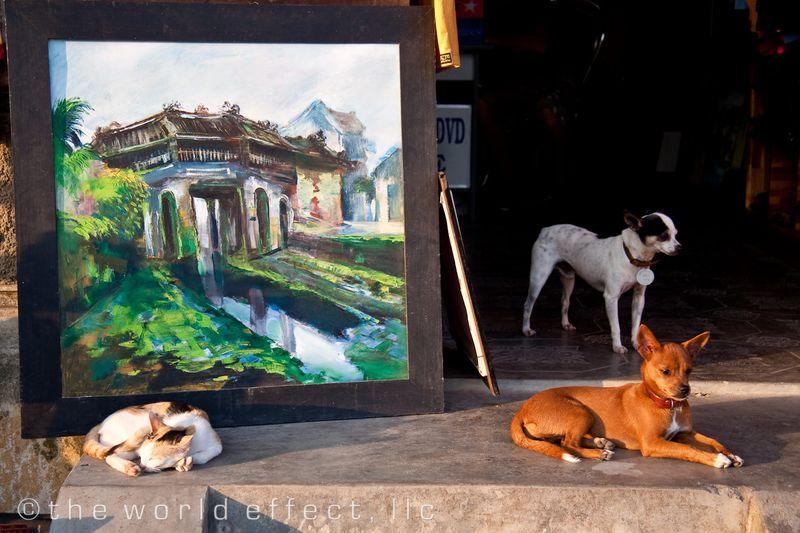 Art gallery staff. Hoi An, Vietnam