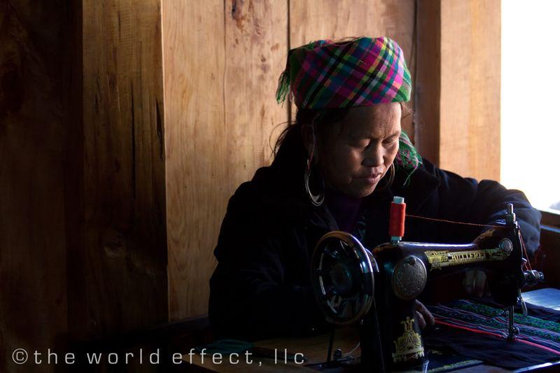 Sapa Vietnam - Village woman making textile