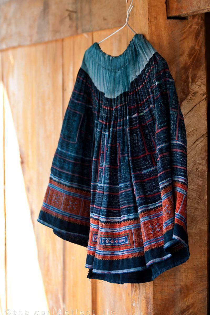 Sapa Vietnam - embroidered skirt