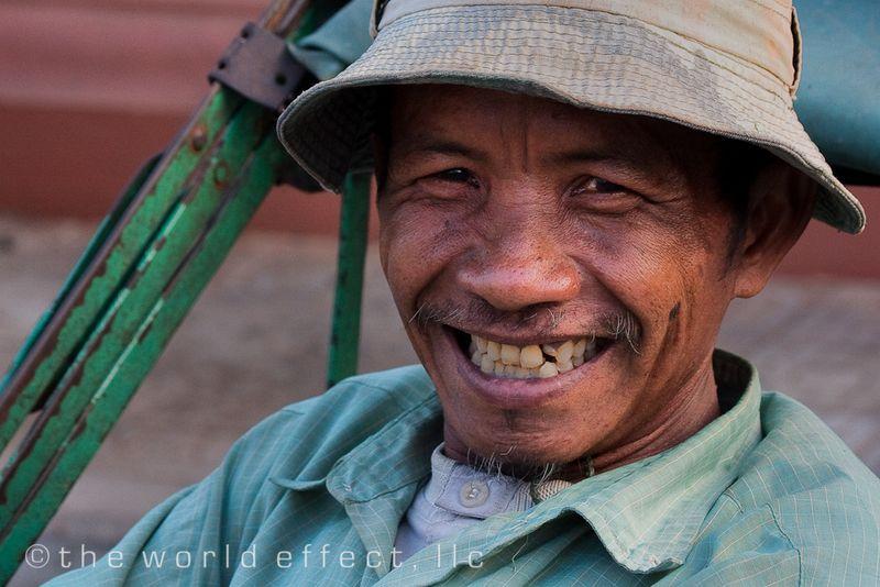 Rickshaw driver. Phnom Penh, Cambodia
