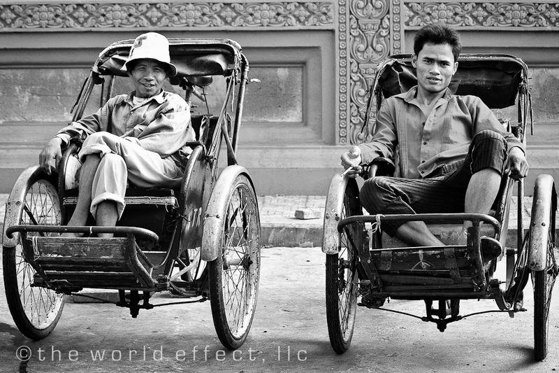 Rickshaw drivers. Phnom Penh, Cambodia