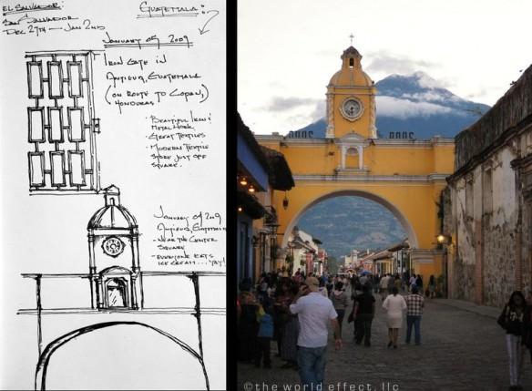 Sketch and Photo | Antigua, Guatemala