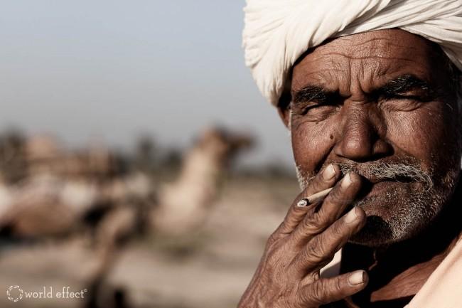 Smoking Man   Rajasthan, India