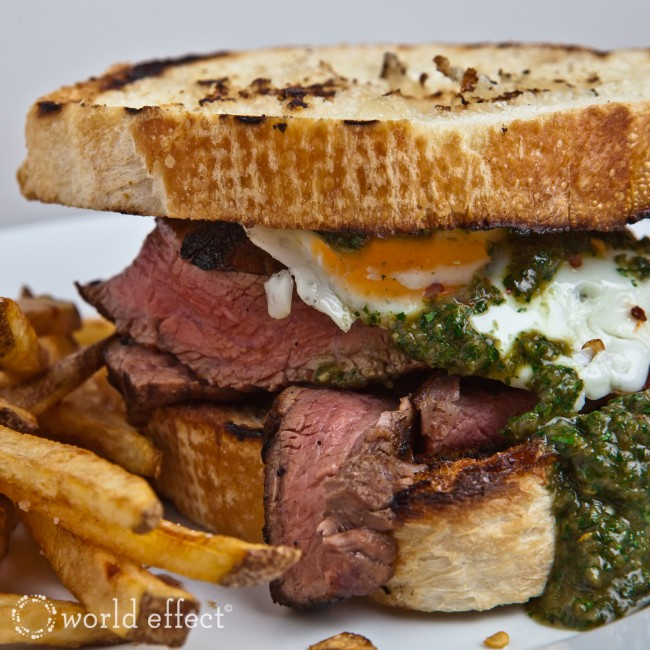 in vibrant tangy cilantro mint chimichurri steak sandwiches and ...