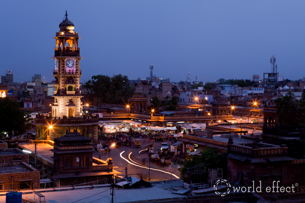 Jodhpur Clock Tower at Night