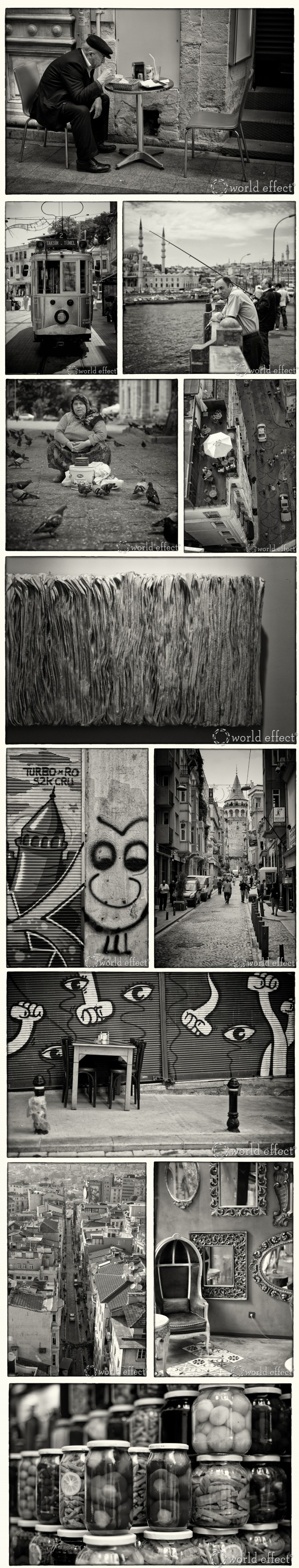 Istanbul in black and white